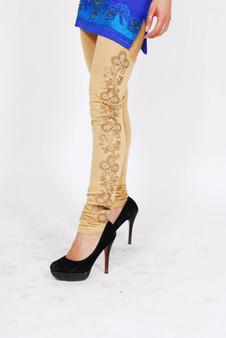 Ladies Tight-Style Leggings - Beige