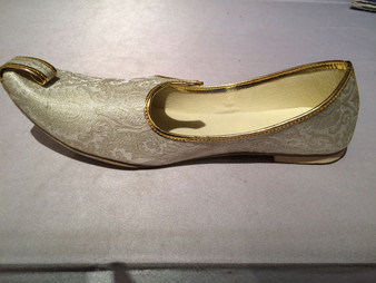 Mens Gold Brocade Shoes