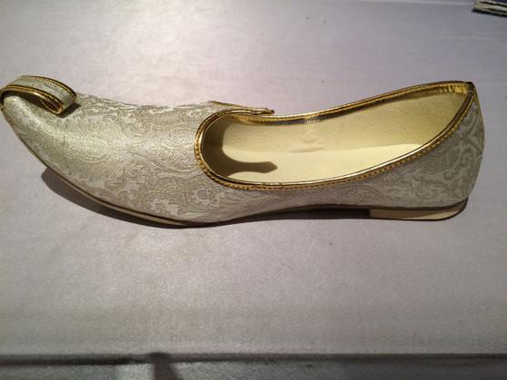 Mens Gold Brocade Shoes