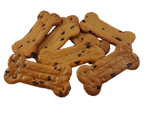 Peanut Butter Carob Chip Bones