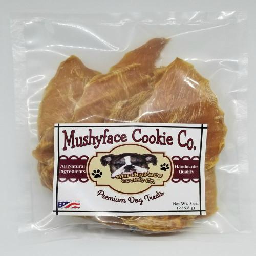 Mushyface Cookie Co.'s original Chicken Jerky 8 oz. Bag