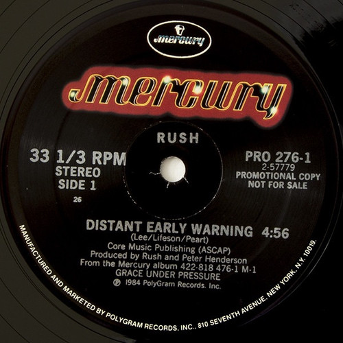 Rush - Distant Early Warning (Promo Copy)
