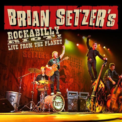 Brian Setzer - Rockabilly Riot - Live From The Planet (sealed 3 LP on coloured vinyl)
