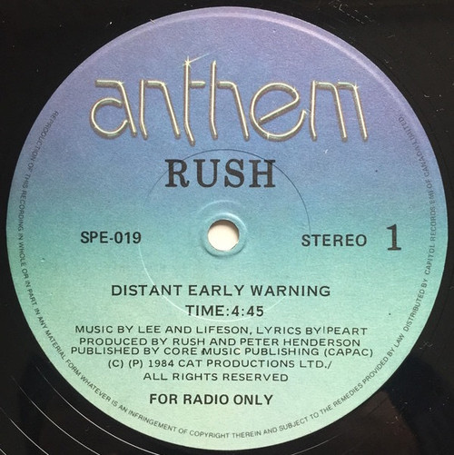 Rush - Distant Early Warning (Sealed Promo)