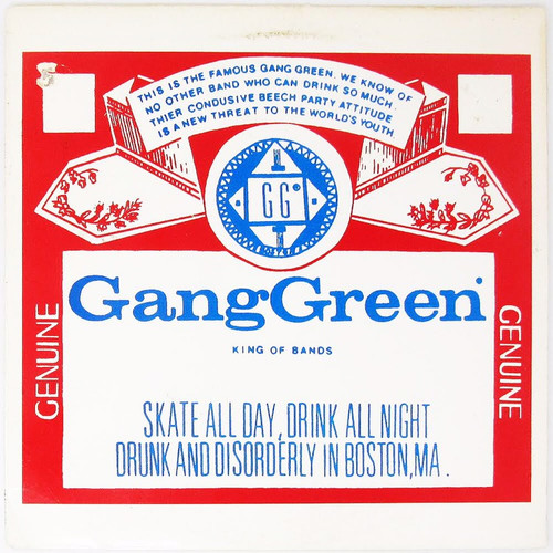 """Gang Green - Skate to Hell / We'll Give it To You (12"""" Single, green vinyl)"""