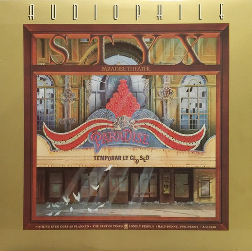 Styx - Paradise Theater ( A&M Audiophile)