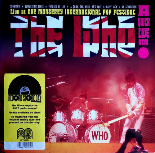 The Who - A Quick Live One: Live at the Monterey International Pop Festival (RSD 2020)