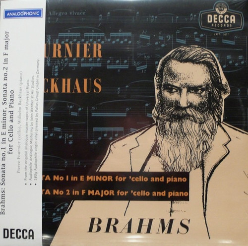 Johannes Brahms - Sonatas For 'Cello And Piano