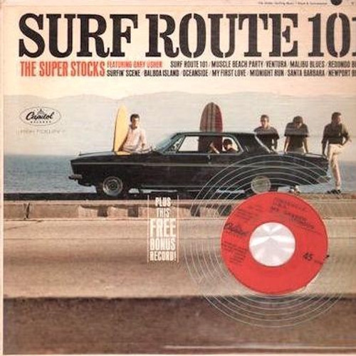 The Super Stocks - Surf Route 101 with 45 (VG+/NM)