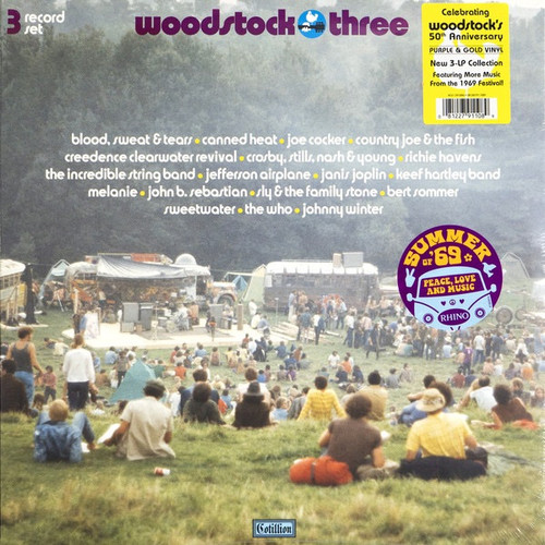 50th Anniversary Edition- Woodstock Three ( 3 LP on purple and gold vinyl)