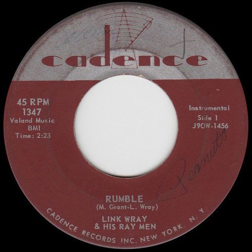 Link Wray And His Ray Men - Rumble / The Swag