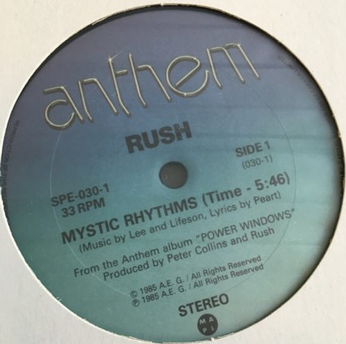 Rush - Mystic Rhythms ( Rare Promo)