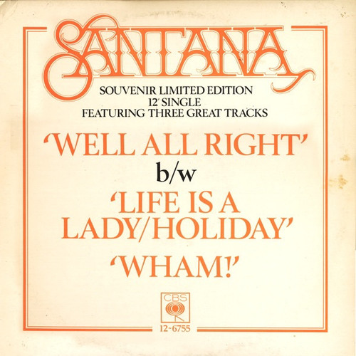 Santana - Well All Right ( Promo Limited Edition)