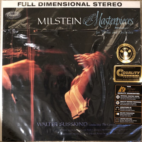 Nathan Milstein - Masterpieces For Violin And Orchestra (Analogue Productions)