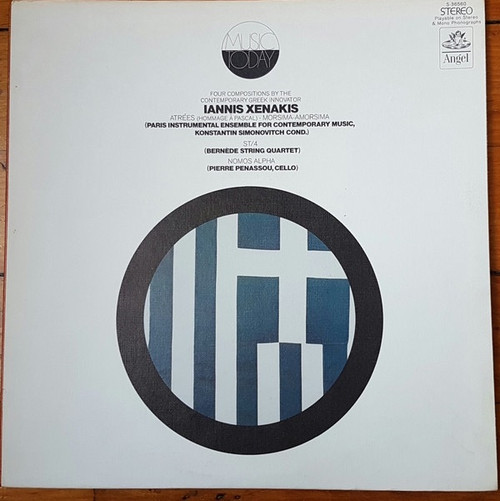 Iannis Xenakis - Atrées / Morsima-Amorsima / ST/4 / Nomos Alpha