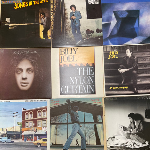 Lot of 9 Billy Joel LPs all in Vg+ to NM condition