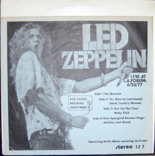 Led Zeppelin - For Badge Holders Only Part 2