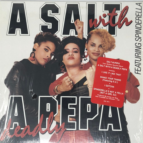 Salt 'N' Pepa - A Salt With A Deadly Pepa (1988 1st Canadian Pressing with hype sticker in open seal)