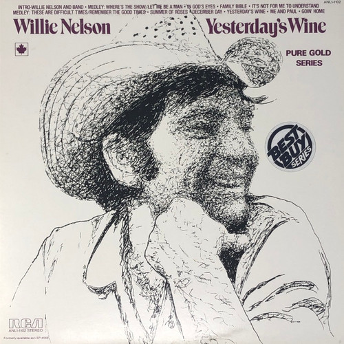 Willie Nelson - Yesterday's Wine (Mid-70's Reissue)