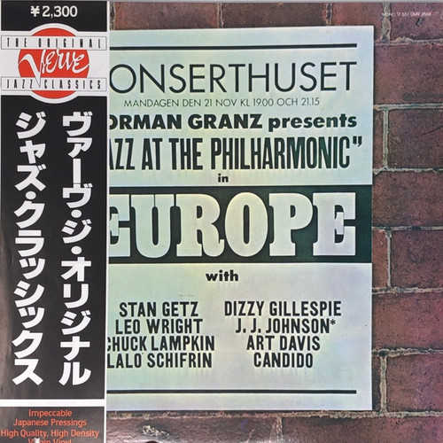 Various - Norman Granz Presents Jazz At The Philharmonic In  Europe (Japanese Press)