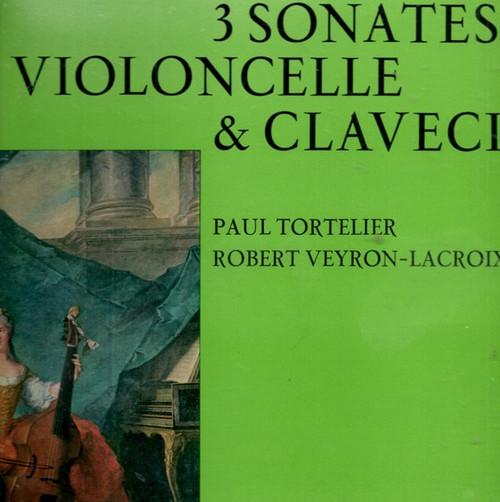 Johann Sebastian Bach - 3 Sonates Pour Violoncelle & Clavecin