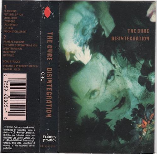 The Cure - Disintegration ( 1989 Cassette)