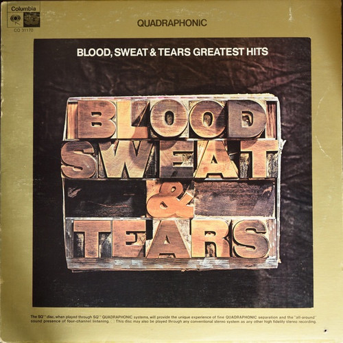 Blood, Sweat And Tears - Blood, Sweat & Tears Greatest Hits(1972 Quad in original shrink - NM)