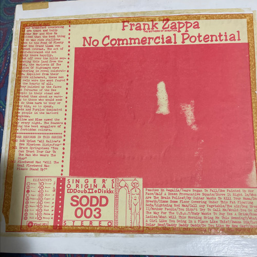 Frank Zappa - No Commercial Potential (2 LP boot! Vinyl is VG+)