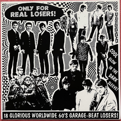 Various - Only For Real Losers! ( Clear Vinyl Rare compilation Numbered 351/500 Glow in the dark sleeve )