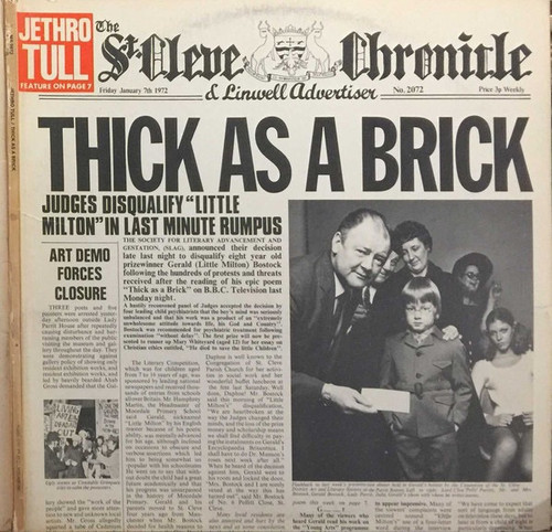 Jethro Tull - Thick As A Brick (1972  Original with full fold out Newspaper)