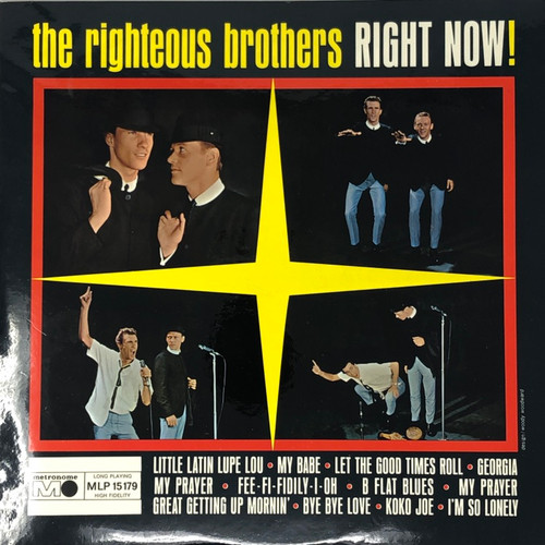 The Righteous Brothers - Right Now! (German Pressing VG+/NM)