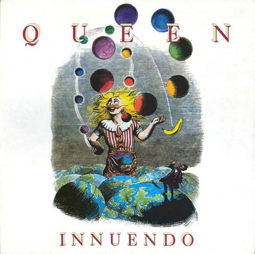 Queen - Innuendo (Rare South Korea Pressing- light stain on cover)
