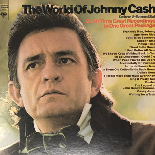 Johnny Cash - The World of Johnny Cash: 20 All Time Recordings (2LP Columbia Two Eye VG)