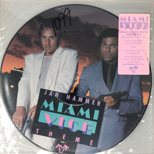 """Jan Hammer - Miami Vice Theme / You Belong To The City (Limited Edition 12"""" Picture Disc)"""