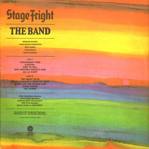 The Band - Stage Fright (USA press)