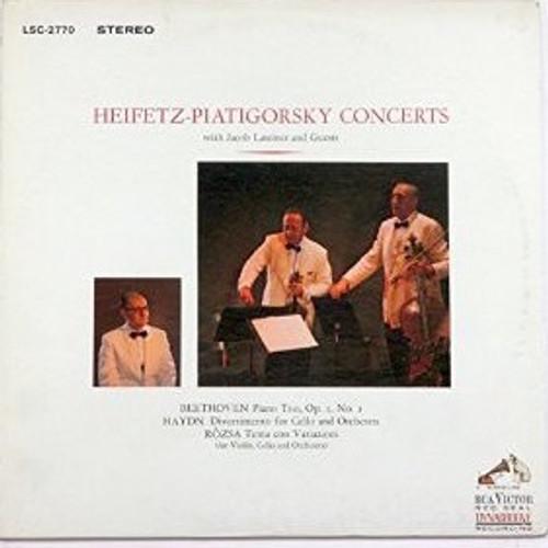 Jascha Heifetz - Piano Trio Op.1 No. 1 / Divertimento For Cello And Orchestra / Tema Con Variazioni