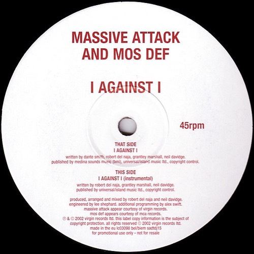 Massive Attack Mos Def  - I Against I Promo
