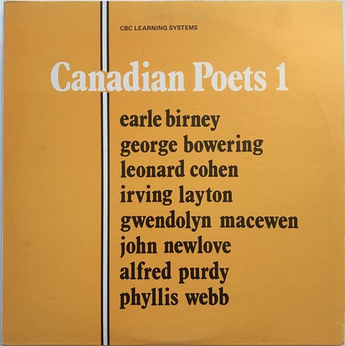 Canadian Poets 1 with Leonard Cohen (NM/NM)