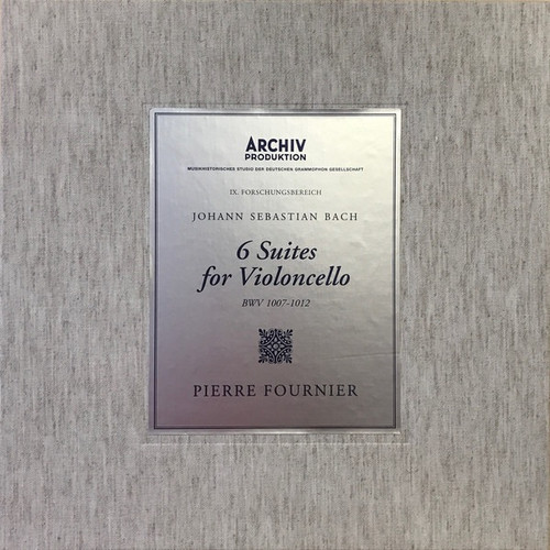 Fournier - Bach - 6 Suites For Violoncello (BWV 1007-1012) (Sealed 2017 numbered 0330)