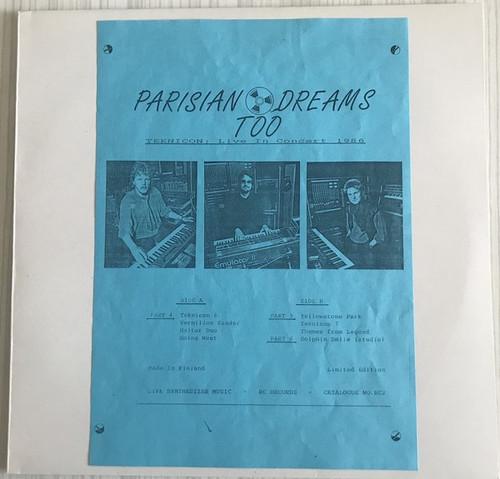 Tangerine Dream Parisian Dreams Too Teknikon live 1986 lp