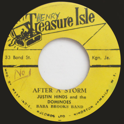 """Justin Hinds & The Dominoes """"After a Storm"""" (45 single)"""