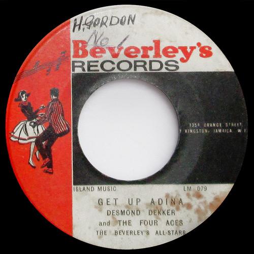 "Desmond Dekker  / The Beverley's All-Stars ""Get Up Adina"" / ""Sleep Walk"" (45 single)"