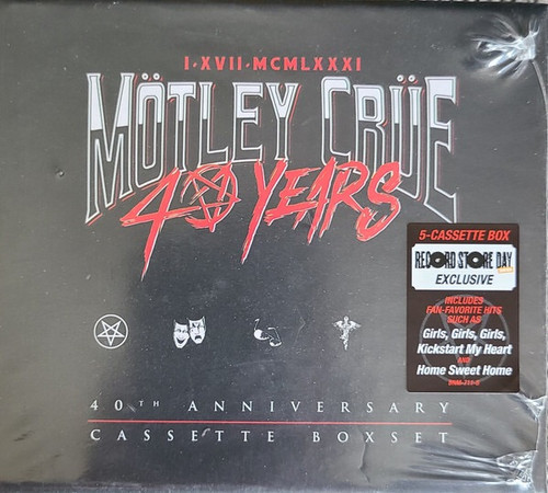 Mötley Crüe - 40 Years (RSD 2021 40th Anniversary Cassette Boxset)