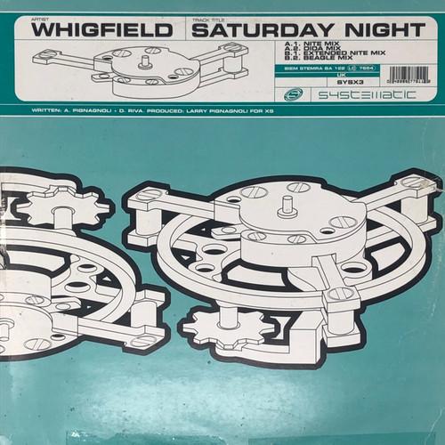 "FREE: Whigfield - Saturday Night (UK 12"" Single - See Description)"