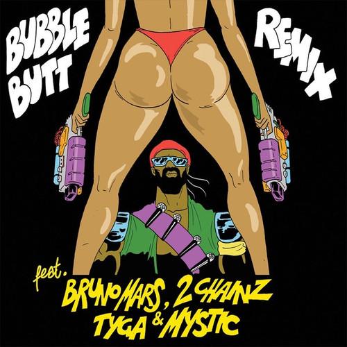 "Major Lazer - Bubble Butt Remix (2013 Euro 12"" Single)"
