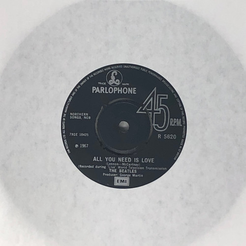 """The Beatles - All You Need Is Love / Baby You're A Rich Man (UK Early Reissue 7"""" Single)"""