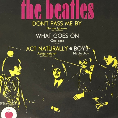 """The Beatles - Don't Pass Me By: The Ringo EP (70's Mexican 7"""" EP)"""