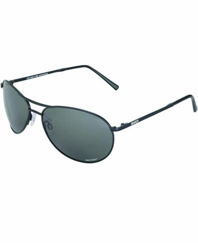 Sinner Prime Aviator Sunglasses Matt Black Black Lenses