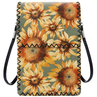 Sunflowers Crossbody Cellphone Bag