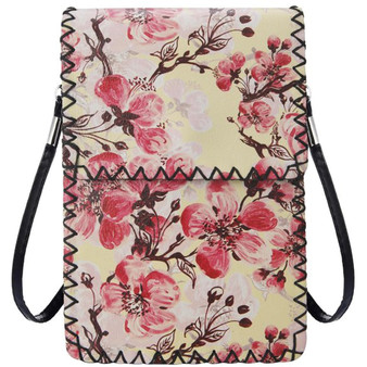 Blossom Print Crossbody Cellphone Bag